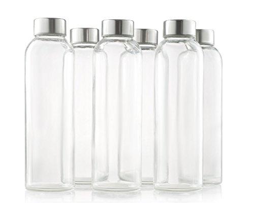 Charmed 500 ML Glass drinking juice bottle Set of 6