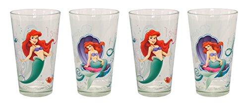 Disney Ariel Juice Glass Multicolor Set of 4
