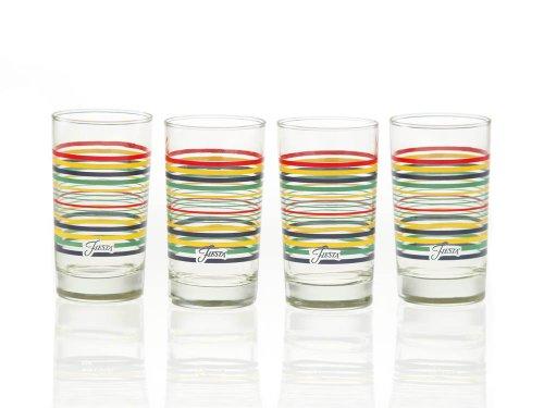 Fiesta Cobalt Stripe 7-Ounce Juice Glass Set of 4
