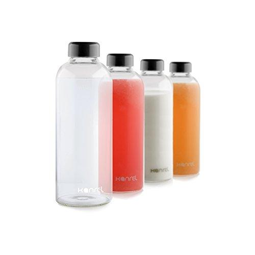Glass Juice Bottles 32 oz with lids 1 x Bottle BPA Free Juicing Container for Cold Orange Apple Kombucha Grapefruit Tea Fresh Oraganic Vegetable Juicer Fruit Coconut Kefir Essential Oils
