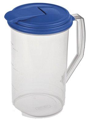 Steriliteâ® 2 Quart Round Pitcher- Clear W/blue Lid