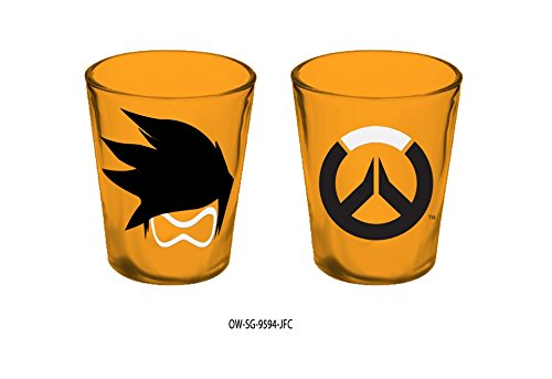 15oz Blizzard OFFICIAL Overwatch PREMIUM Orange Tracer Shot Glass GIFT