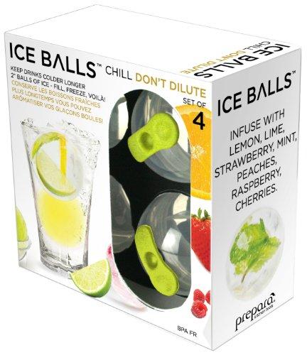 Prepara Ice Balls Green and Black Set of 4