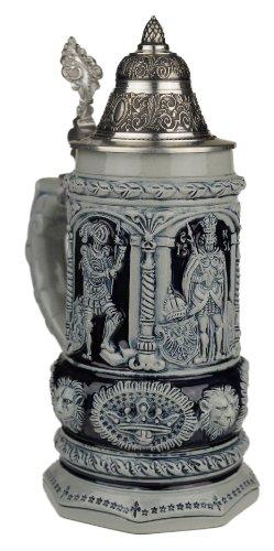 Beer Steins By King - Thewalt 1893 Stein Of Kings Relief German Stein Beer Mug 075l Limited
