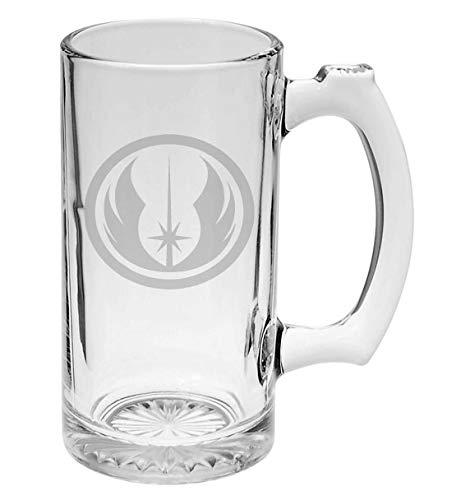 Jedi Star Wars Inspired 16 oz Hand-made Etched Beer Mug Glass Stein