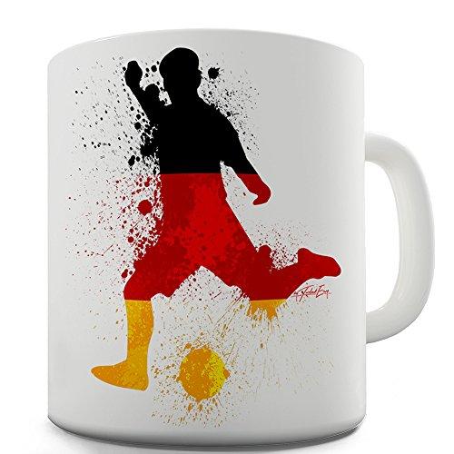 11 OZ Funny Mugs For Men Football Soccer Silhouette Germany