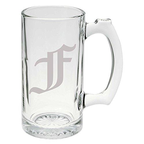 Olde English Upper Case F Glass Stein Mug 25 ounce
