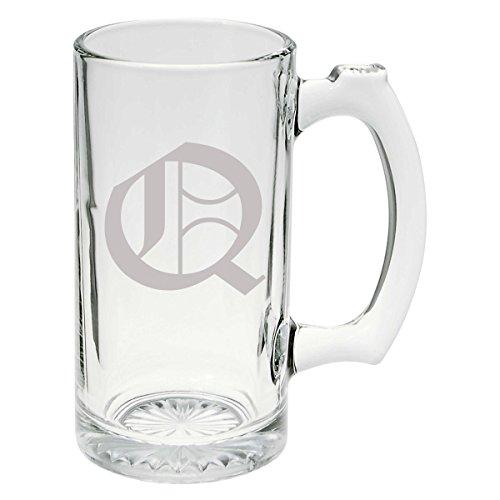 Olde English Upper Case Q Glass Stein Mug 25 oz