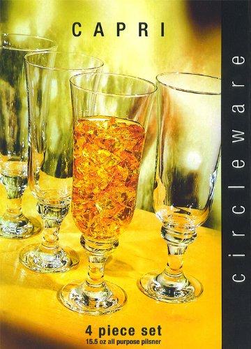 Circleware Capri 4pc All Purpose Pilsner Glass Set