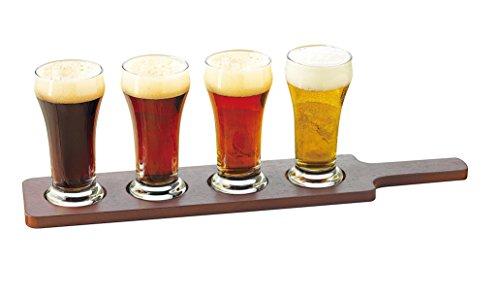 Libbey Craft Brews Beer Flight 6-Ounce Clear Pilsner Glass Set 5-Piece