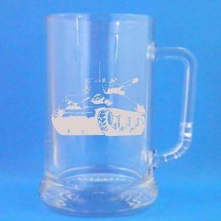 1 English Pint Glass Tankard With Sherman Tank Design with presentation box