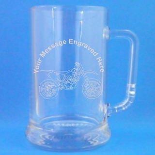 1 English Pint Glass Tankard With Speedway Bike Design