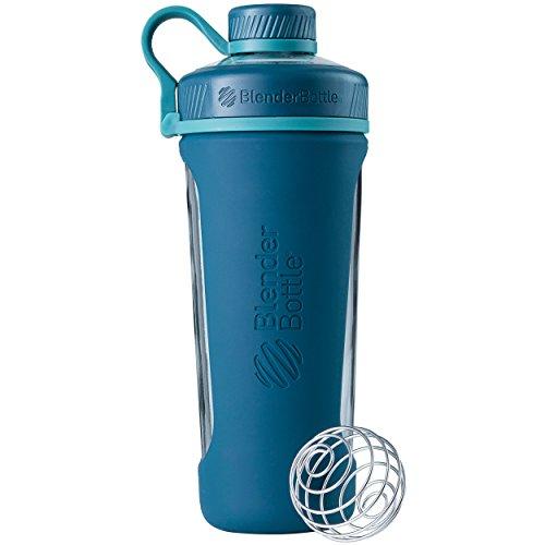 BlenderBottle Radian Glass Shaker Bottle Deep Sea Green 28-Ounce