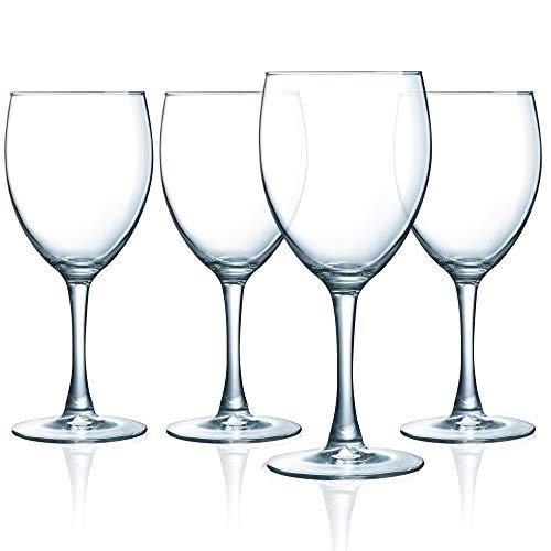 Luminarc N7523 Atlas 12 Ounce Goblet Glass Set Of 4 Clear