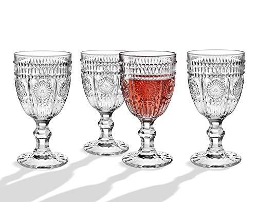 Wine Glasses Goblets Beverage Water Juice Cups - 12oz Set of 4