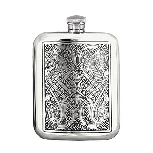 Premium Celtic Design Pewter Flask