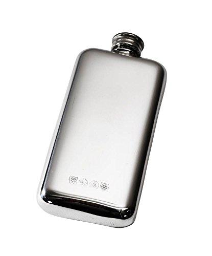 Wentworth Pewter - Plain Pewter Pocket Flask Spirit Flask