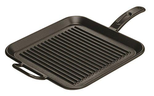 Lodge Pro-logic P12sgr3 Pre-seasoned Cast Iron Square Grill Pan, 12-inch