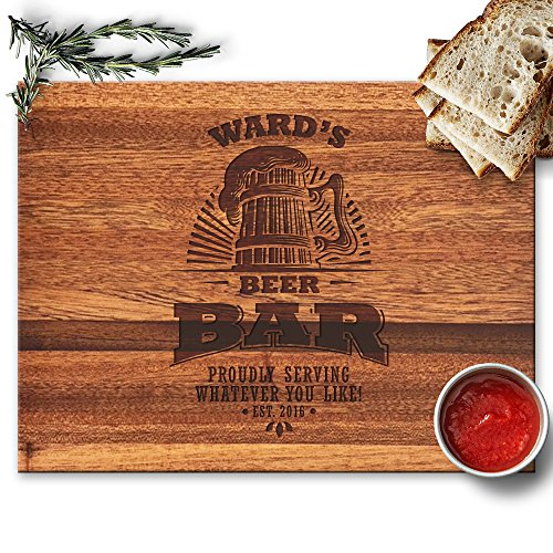 Froolu Custom Beer Bar kitchen cutting boards for Home Bar Christmas Gifts