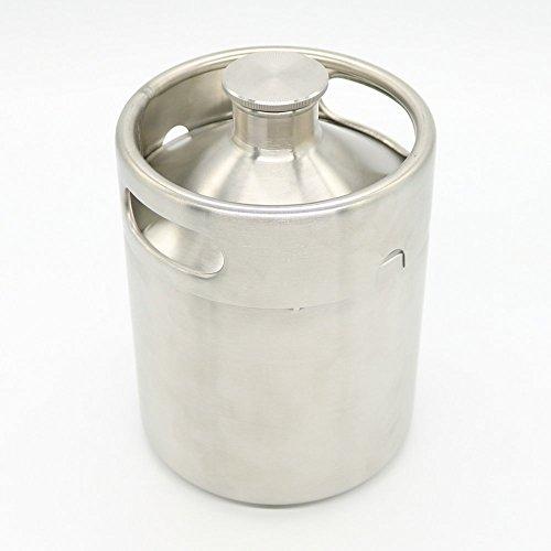 Home brew 2L Mini Keg Stainless Still Beer Bar Making Growler Wine Pot Screw Cap
