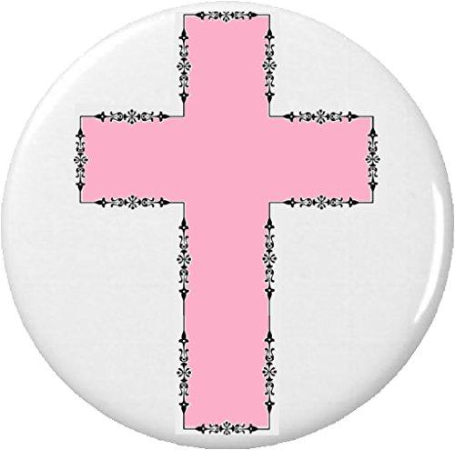 "Pink Cross Crucifix 225"" Large Magnet Church Christian Christ Divine Faith God Holy Jesus Prayer"