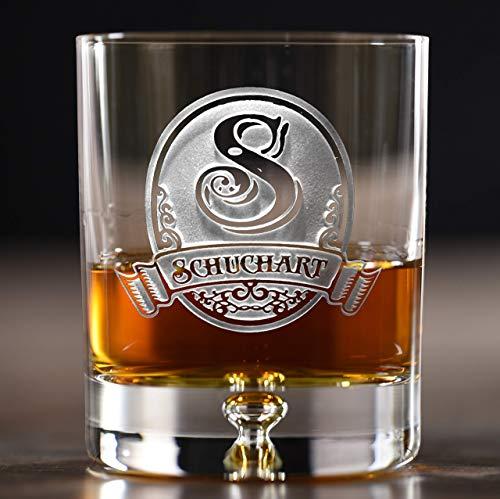 Lead Free Crystal Whiskey Scotch Bourbon Rocks Glasses Engraved SET OF 4 M8