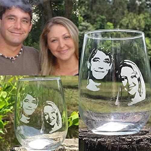 Personalized Engraved wine glass Custom picture wine glassengraved photo whiskey glass photo engraved beer mug