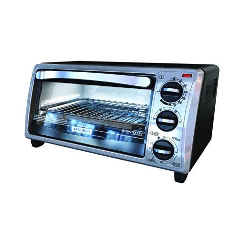 Black & Decker To1313sbd 4-slice Toaster Oven, Silver/black