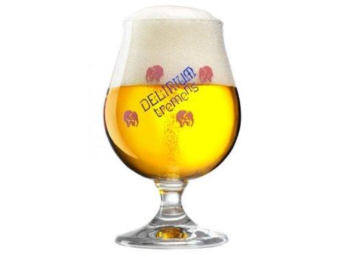Delirium Tremens Belgian ChaliceGoblet Beer Glass 025L - Set of 4