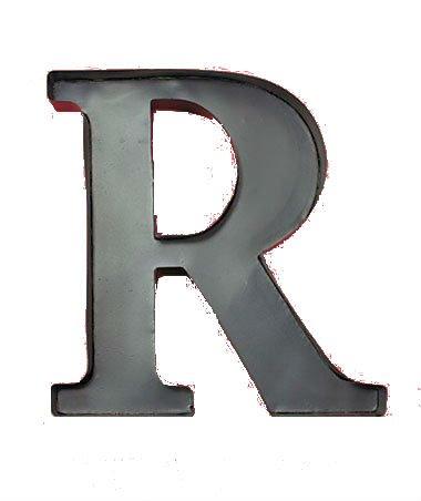 Personalized Letter R Metal Wall Wine Cork Holder - Monogram Wall Art