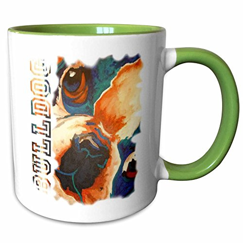 3dRose Taiche Acrylic Art - Dog Terrier - 11oz Two-Tone Green Mug mug_23743_7