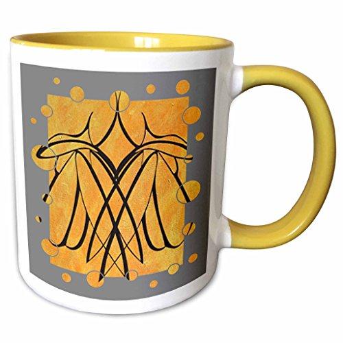 3dRose Taiche Acrylic Art - Lovers Lesbian Couple - 11oz Two-Tone Yellow Mug mug_23736_8