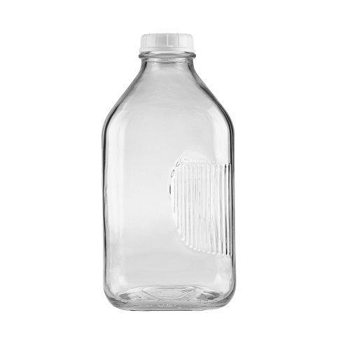 The Dairy Shoppe Glass Milk Bottle 2 quart64 oz Clear