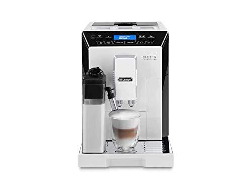 DeLonghi ECAM44660 Eletta Fully Automatic Espresso Cappuccino and Coffee Machine with One Touch LatteCrema System and Milk Drinks Menu White ECAM44660B
