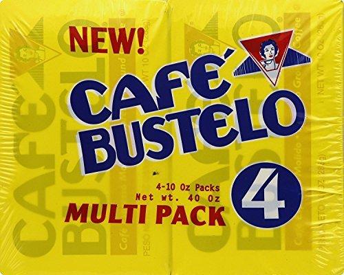 Cafe Bustelo Espresso Ground Coffee 10 oz Brick Pack of 4