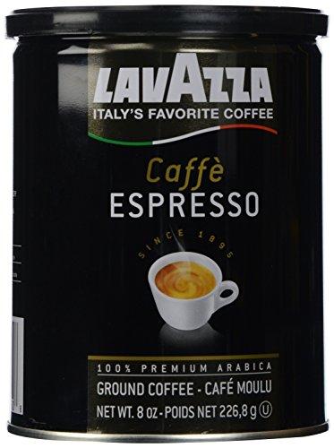 Lavazza Caffe Espresso Ground Coffee Blend Medium Roast 8-Ounce Can