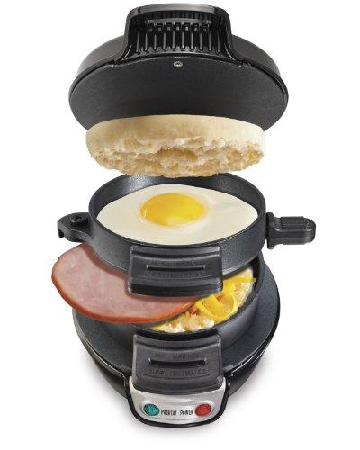 Hamilton Beach 25477 Breakfast Electric Sandwich Maker Black