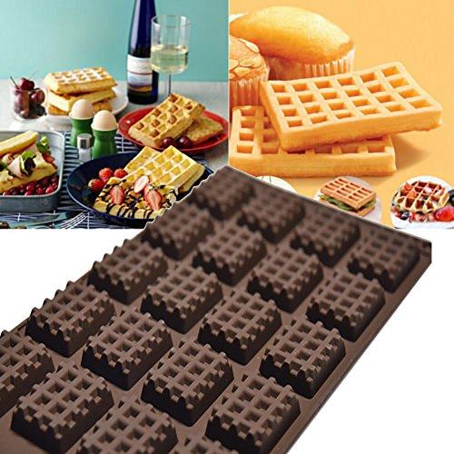 Clearance Tuscom Silicone Mini Round Waffles Pan Cake Chocolate Pan Baking Mould Mold Waffle Tray Random