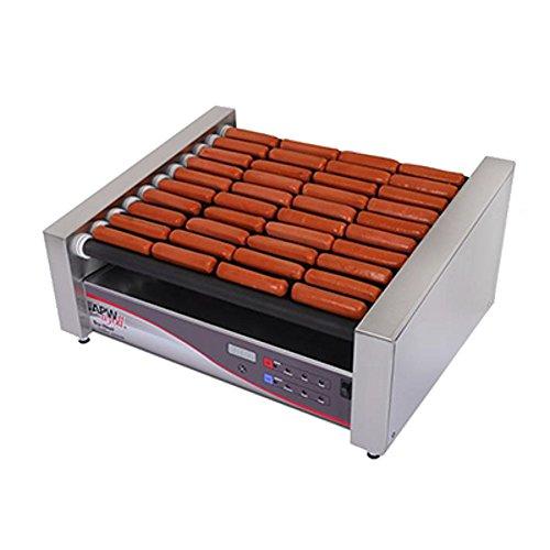 APW Wyott HRSDI-31S 460 Hot Dog Per Hour Capacity 10 Slanted Tru-Turn Rollers XPERT HotRod Hot Dog Grill