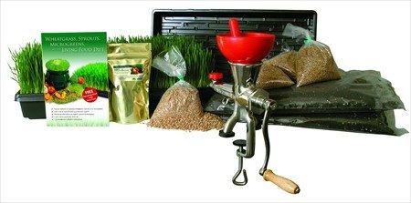 Hydroponic Organic Wheatgrass Growing Kit  Tornado AKA Back to Basics Stainless Steel Manual Wheat Grass Juicer