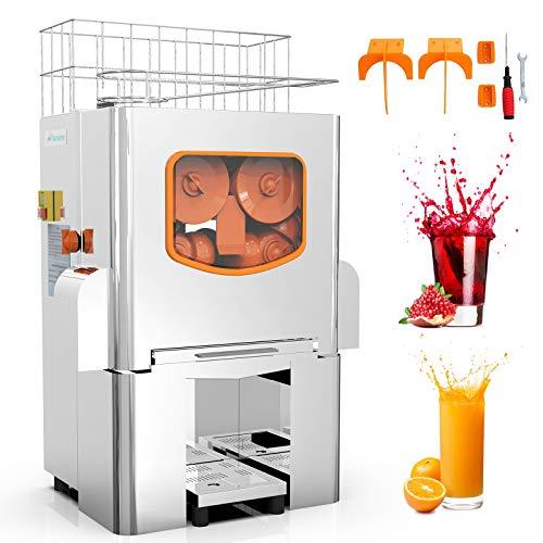 Commercial Orange Juicer Electric Orange Juice Squeezer Automatic Citrus Juice Machine Lemonade Making Machine Heavy Duty Stainless Steel Cover 120 Watts