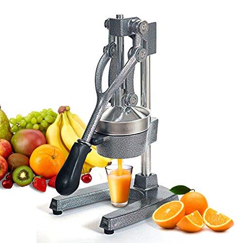 ZENY Commercial Grade Hand Press Manual Juicer - Home Restaurant Fruit Juice Squeezer - Citrus Squeezer for Lemons Limes Pomegranate Oranges Grey