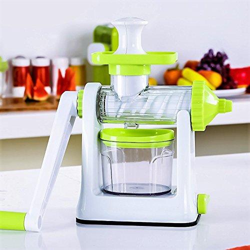 Edofiy Manual Hand Crank Single Auger Health JuicerFruit Vegetable Juice Extractor Manual Wheatgrass Juicer