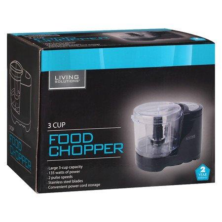 Living Solutions 3 Cup Food Chopper Black