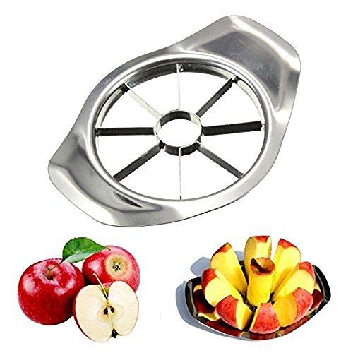 Delidge Apple Corer Slicer Peeler Apple Cutter Divider Heavy Duty Stainless Steel Blade&Handle Rounded Fruits 8 Pieces List of Kitchen Utensils