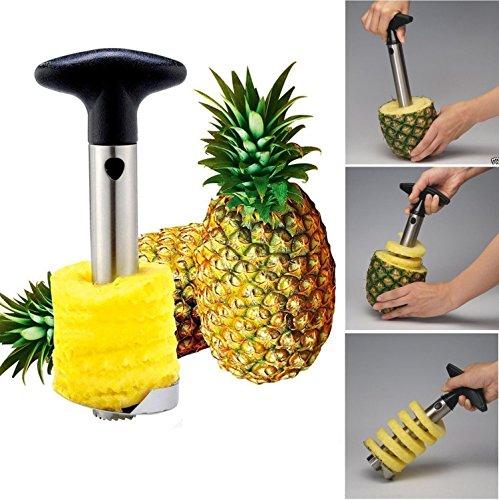 Easy Kitchen Tool Stainless Steel Fruit Pineapple Peeler Corer Slicer Cutter Dicer By BIMANGO