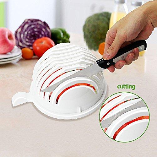 LH New Salad Cutter Bowl - Make your salad faster 60 Second Salad Maker Salad Cutter Salad Chopper Bowl Salad Spinner-Extra Big Bowl