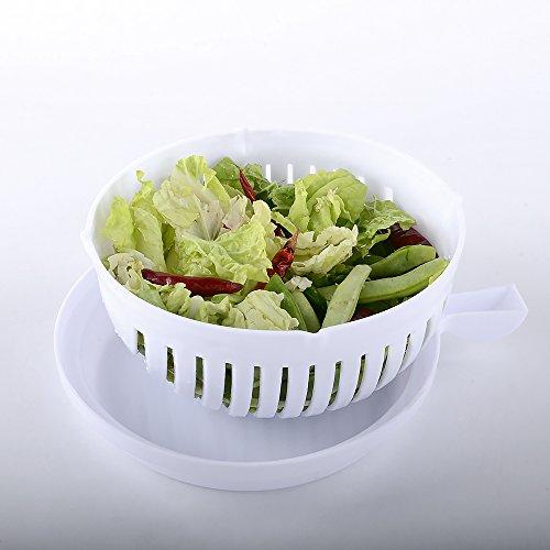 Hakutatz 60 Second Fresh Salad Maker Salad Cutter Bowl Easy Slicer Salad Vegetable Fruit Washer Server Quick Salad Maker Chopper