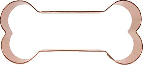 CopperGifts Dog Bone Cookie Cutter 6 inch