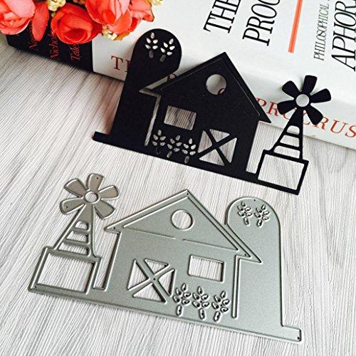 Transer Metal Die Cutting Dies Stencil For DIY Scrapbooking Album Paper Card Decor Craft Silver H
